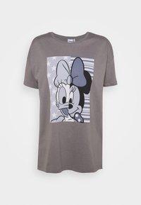 ONLY - ONLDISNE LIFE SPLIT - Camiseta estampada - steel gray - 4