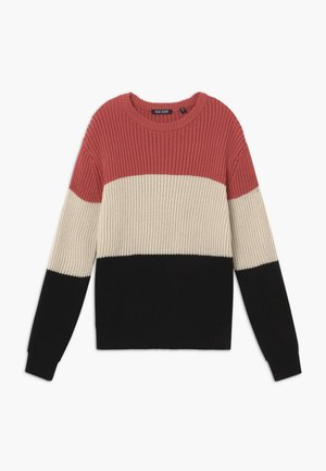 TEENS COLOURBLOCK - Jumper - ziegel