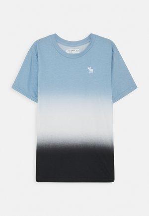 DYE EFFECTS - Print T-shirt - blue/white/black