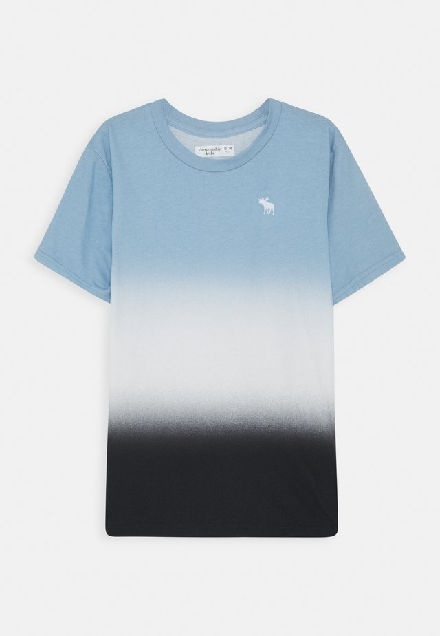 DYE EFFECTS - Print T-shirt - blue/white/black
