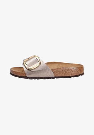 Mules - silver-coloured/light brown