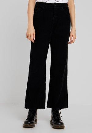 NINA WIDE LEG - Kalhoty - black