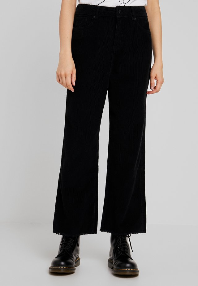 NINA WIDE LEG - Trousers - black