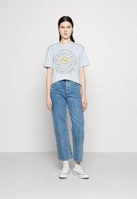 Even&Odd - Print T-shirt - light blue - 1
