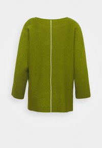 TOM TAILOR - BATWING DOUBLE FACE - Jumper - wood green - 1