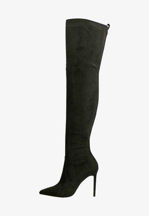 STIEFEL BAIWA VELOURSOPTIK - Laarzen met hoge hak - schwarz