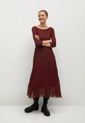 CALDERO - Maxi dress - granatrot