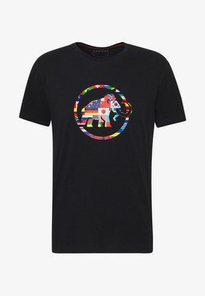 NATIONS MEN - T-shirt z nadrukiem - black