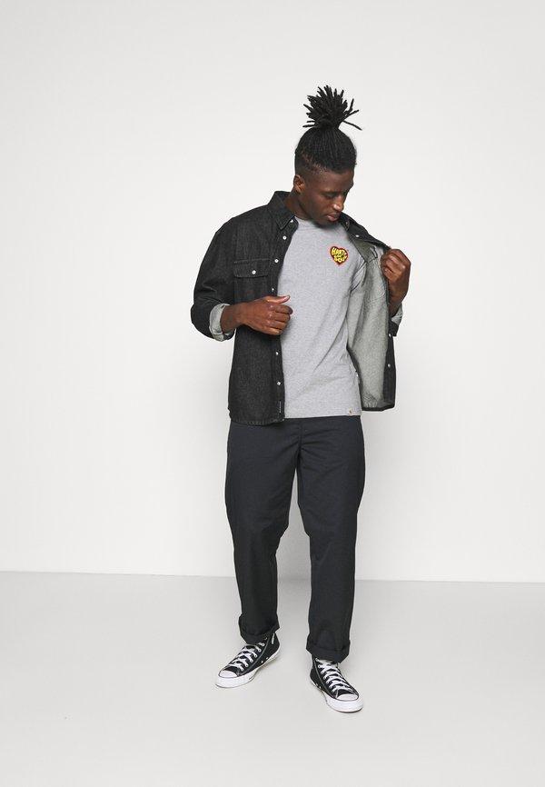 Carhartt WIP HARTT OF SOUL - T-shirt z nadrukiem - grey heather/szary melanż Odzież Męska BGJH