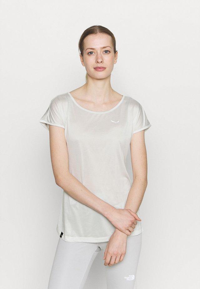 PUEZ DRY TEE - T-shirt basique - white melange