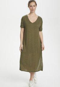 Cream - PITTACR  - Jersey dress - burnt olive - 1
