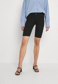 JDY - CITY - Denim shorts - black denim - 0