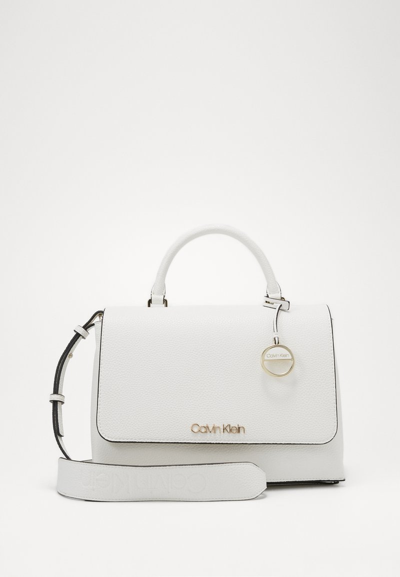 Calvin Klein - SIDED TOP HANDLE - Handbag - white
