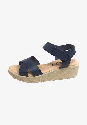 Sandalias de cuña - azul