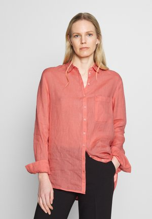 BLOUSE LONG SLEEVED EASY SHAPED CHEST POCKET - Blouse - salty peach