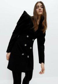 Uterqüe - Shirt dress - black - 0