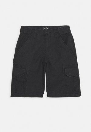SCHEME BOY - Cargo trousers - charcoal
