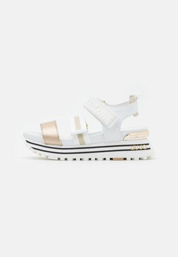 MAXI - Platform sandals - white