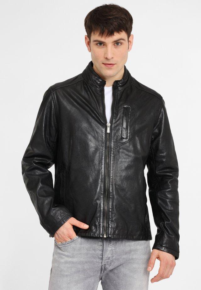 SWASH NSLONTV - Leren jas - black