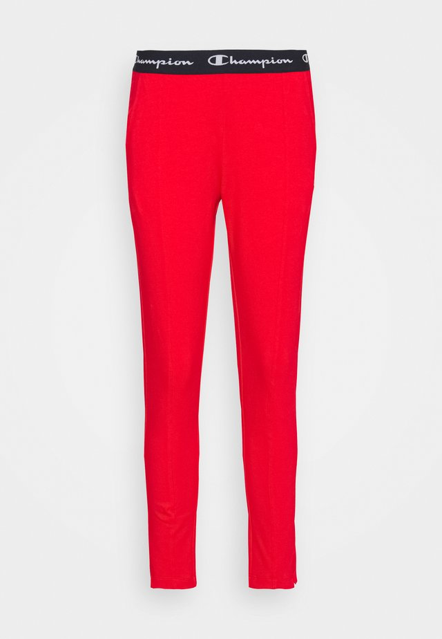 SLIM PANTS - Teplákové kalhoty - red