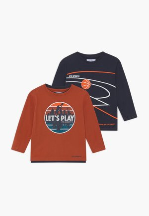 BOYS LONG SLEEVE 2 PACK - Longsleeve - metallic red/dark blue
