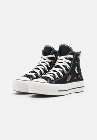 Converse - CHUCK TAYLOR ALL STAR LIFT - Vysoké tenisky - black/vintage white/multicolor - 2
