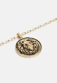 Topman - LION DISC PENDANT - Ketting - gold-coloured - 2