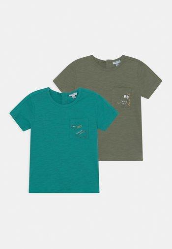 2 PACK - Print T-shirt - hedge green