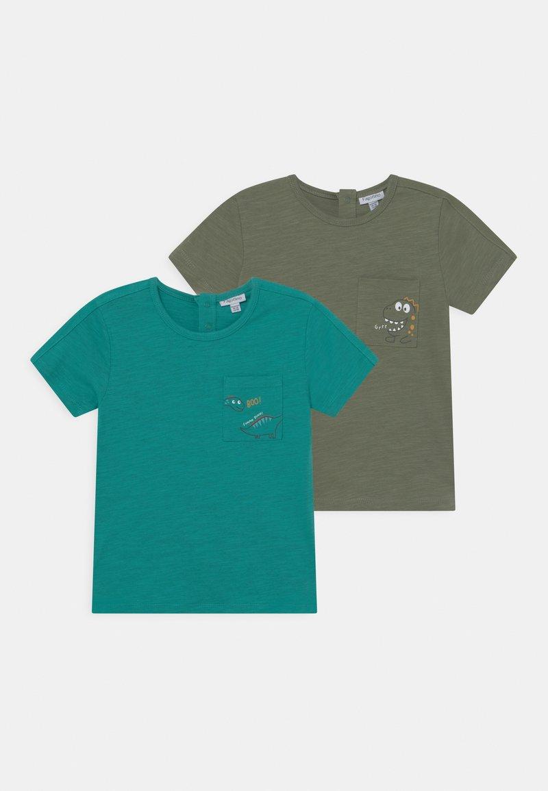 OVS - 2 PACK - Print T-shirt - hedge green