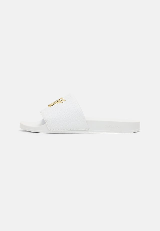 SLIDES - Mules - white
