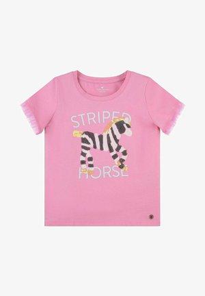 VERSPIELTES MIT PAILLETTEN-ARTWORK - T-shirt print - sachet pink/rose