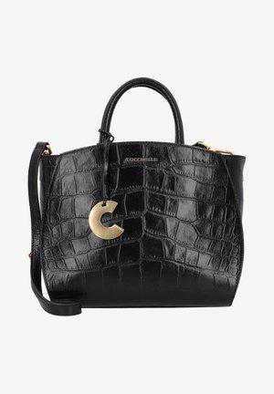 CONCRETE CROCO MAXI - Handbag - noir