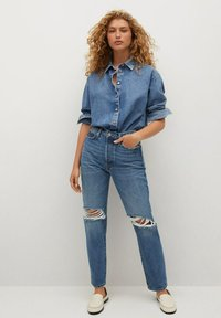 Mango - Relaxed fit jeans - medium blue - 1