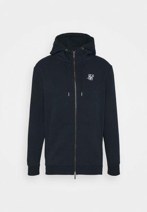 ZIP THROUGH FUNNEL NECK HOODIE - Zip-up hoodie - navy