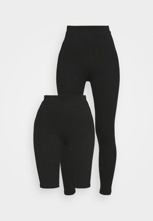 LEGGING AND CYCLE SHORT SET - Shorts - black