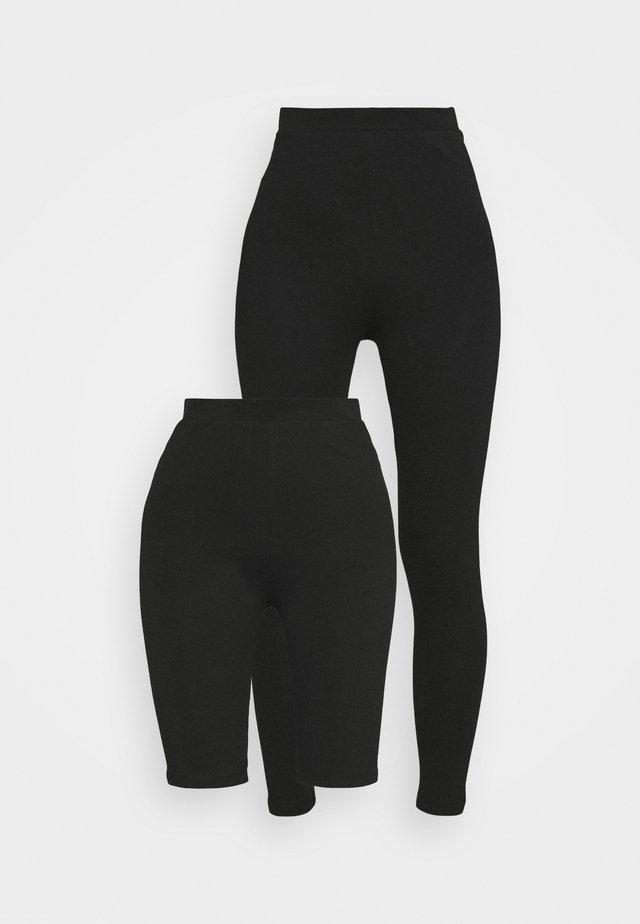 LEGGING AND CYCLE SHORT SET - Shorts - black