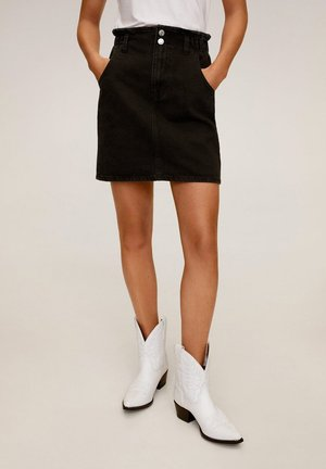 PAPERBAG - A-line skirt - black denim
