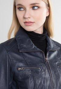 7eleven - SISSY - Leather jacket - navy - 3