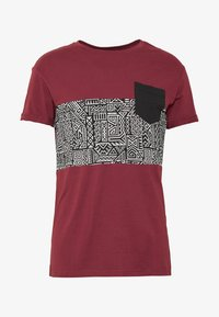 Pier One - T-shirt con stampa - bordeaux - 3