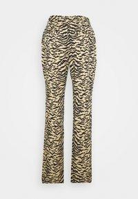 Good American - SIDE SLIT - Trousers - sand zebra - 1
