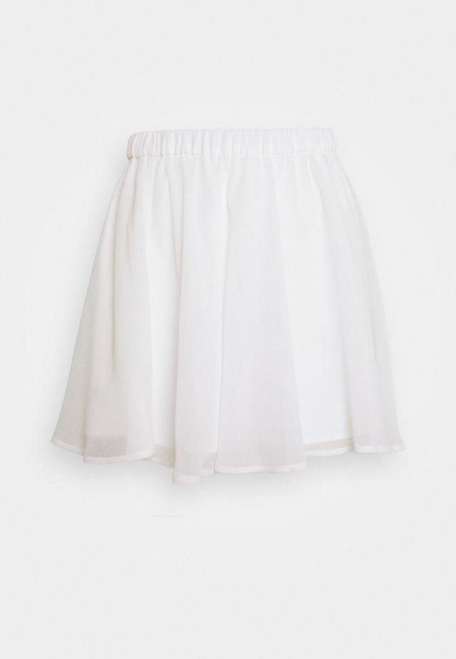 Pamela Reif x NA-KD CIRCLE SKIRT - Áčková sukně - white