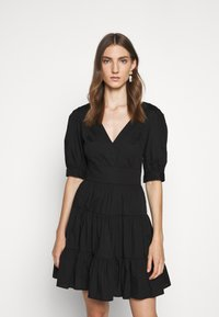 MICHAEL Michael Kors - V NECK PUFF DRESS - Day dress - black - 0