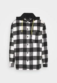 Mennace - SKATER HOODED OVERSIZED SHIRT - Shirt - black - 4