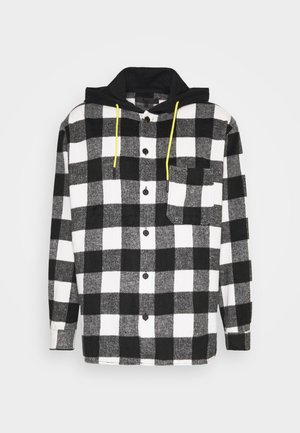 SKATER HOODED OVERSIZED SHIRT - Overhemd - black