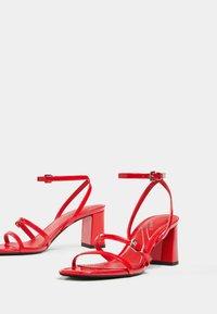 Bershka - Sandales - red - 4