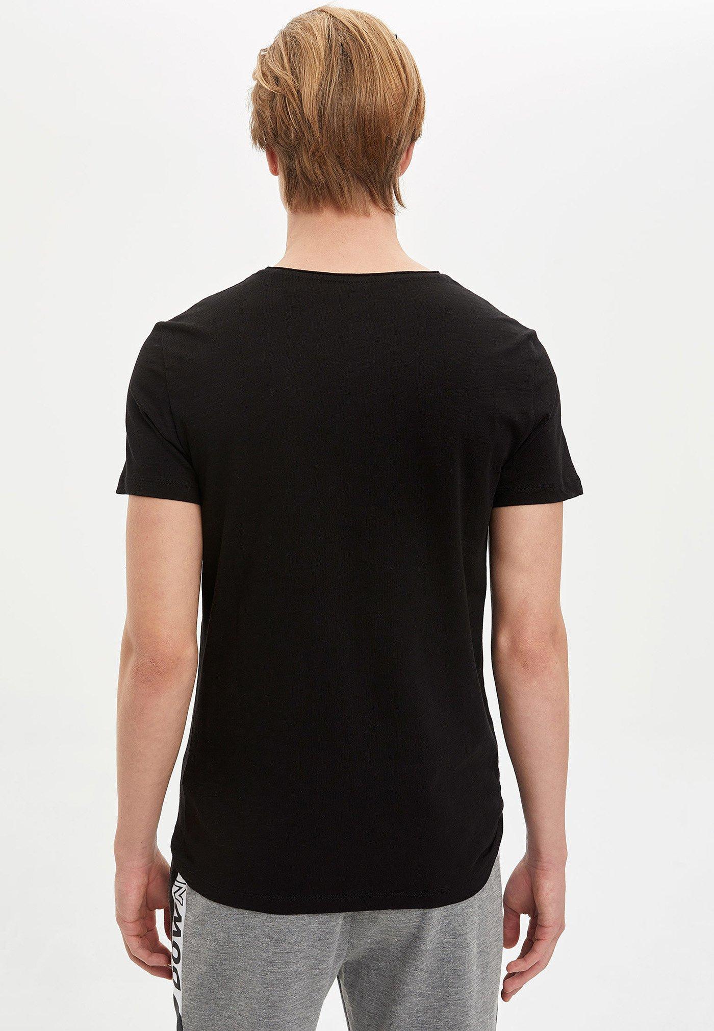 DeFacto Basic T-shirt - black xTBKL