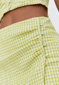 PULL&BEAR - A-line skirt - light green - 5