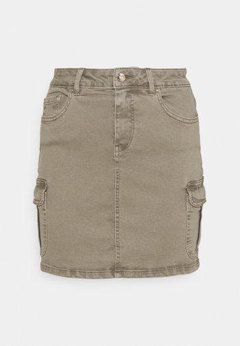 ONLMISSOURI LIFE SKIRT - Mini skirt - covert green