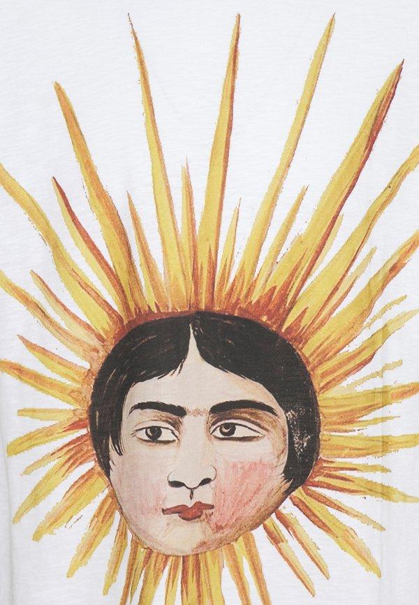 YMC You Must Create SUN HEAD TRIPLE - T-shirt z nadrukiem - ecru/mleczny Odzież Męska ZQGY