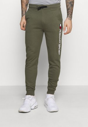 LOGO - Tracksuit bottoms - green